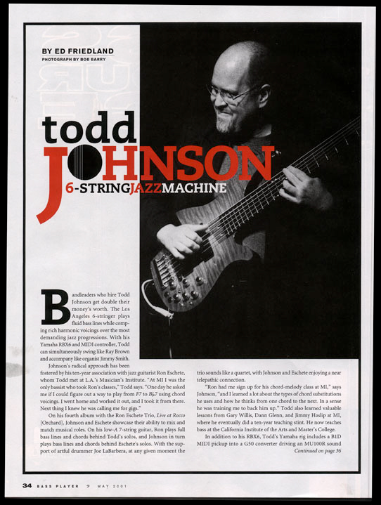 Todd Johnson - Bass Magazine