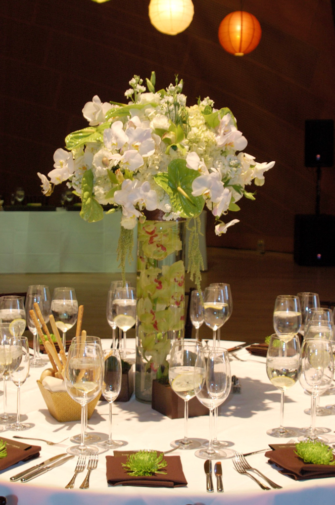 Centerpieces Reception My Wedding Blooms Reception Tall Centerpieces