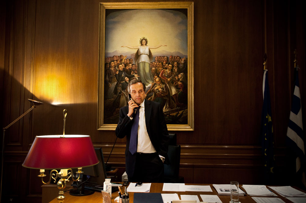Greece, Athens 21 August, 2012Inside the Prime Minister's office Antonis Samaras.