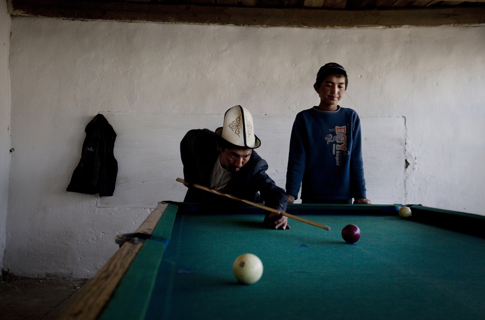 Murghab, Tajikistan 2011-Inside a local billiards place in Murghab.