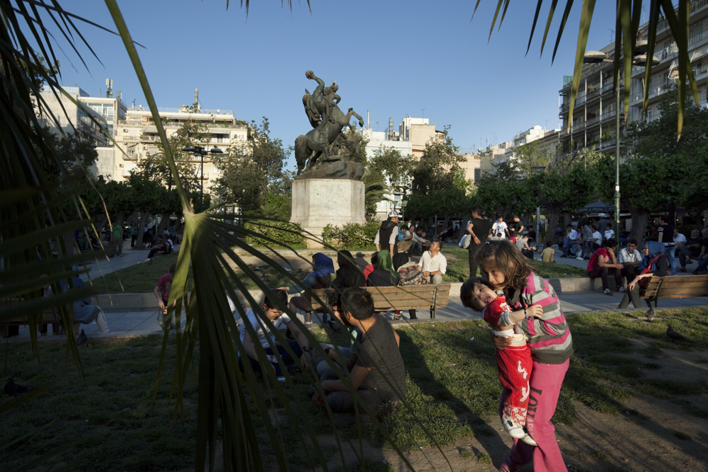 Greece, Athens 2015Victoria square in the center of Athens has become the hub where many immigrants meet everyday the moment they arrive in the city.