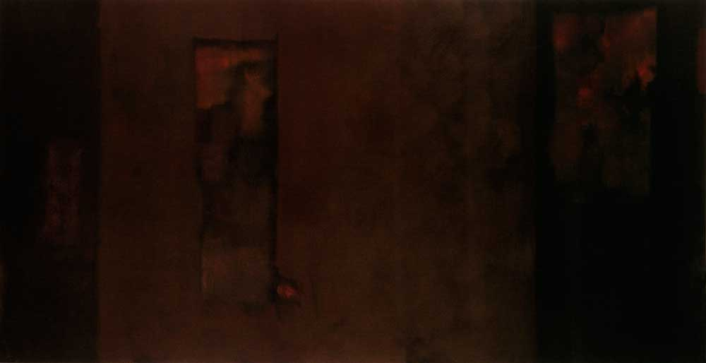 Oil on Canvas, 3 ft. 9 in. x 7 ft. 3 in. (114.3 x 221 cm)