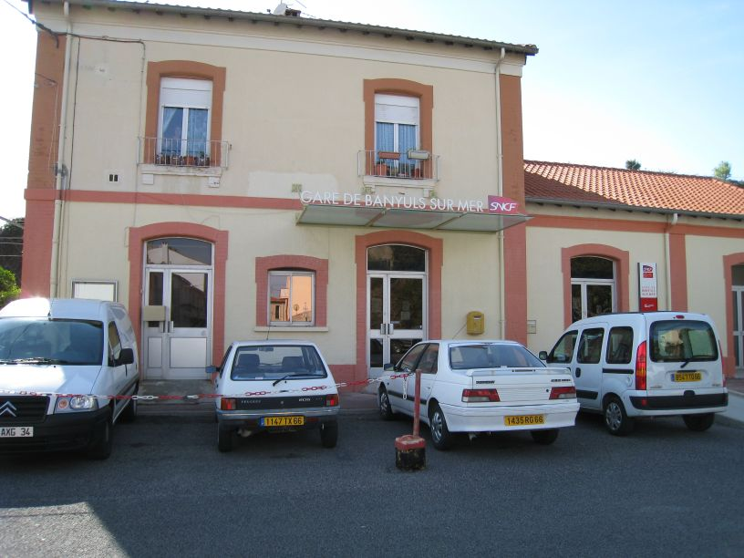 The Banyuls train depot, last stop in France.