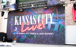 Large print from event photo shot at the Kansas City Live Block