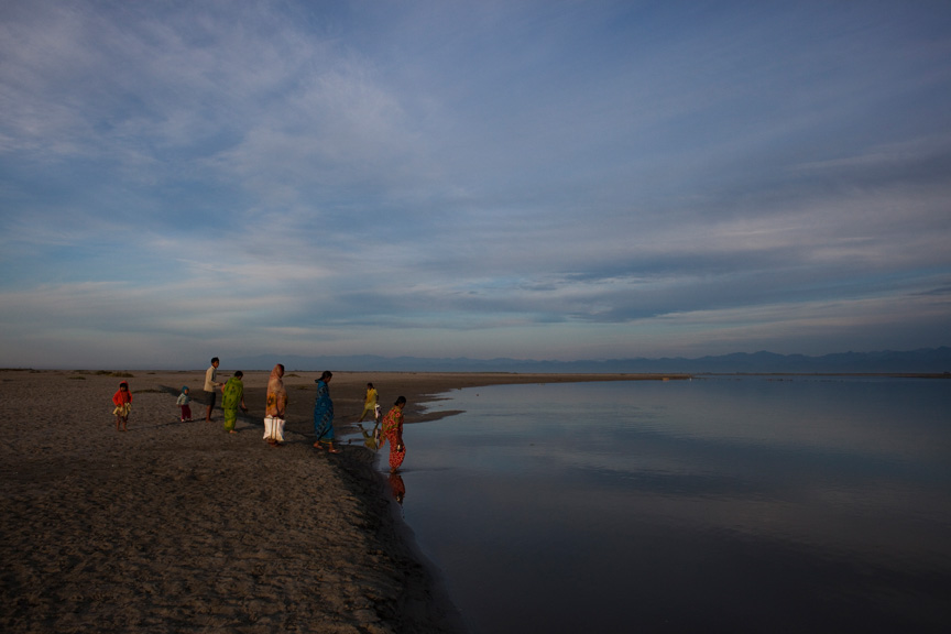 Hindu pilgrims visit the brahmaputra to preform a ritual puja, or offering.  The Brahmaputra has an average width of 6.5 miles, and is 1800 miles long, running through China, Tibet, India, and Bangladesh. Within the river, there are some 2500 small islands, which are home to 3 million people.
