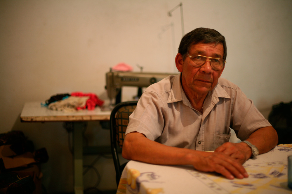 Juan, who has worked at La Nueva Esperanza for over two decades, lives on the outskirts of Buenos Aires with his daughter and wife, who have a sewing business in their home. According to juan, the emotional and financial support of his family allowed him to spend nine months protesting and petitioning for the reopening of the factory.