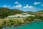 Aerial view of aged care centre on the waterfront at Thursday Island, Torres Strait