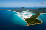 Aerial view of scenic Hill Inlet and Whitehaven Beach on Whitsunday Island, Whitsundays