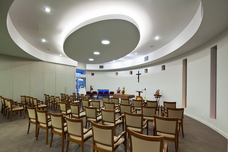 Interior of chapel at Holy Spirit Care Services building, Cairns