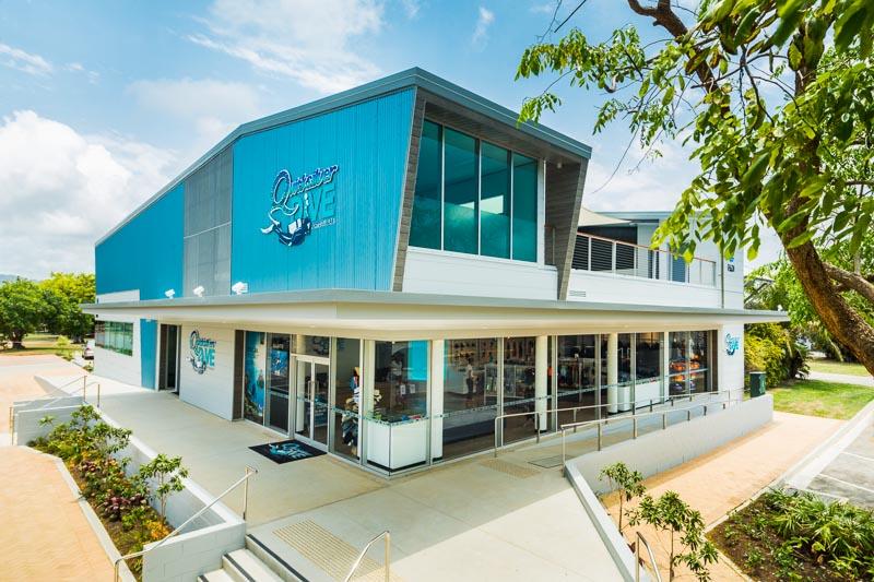 Exterior of Quicksilver Dive training and retail building in Port Douglas