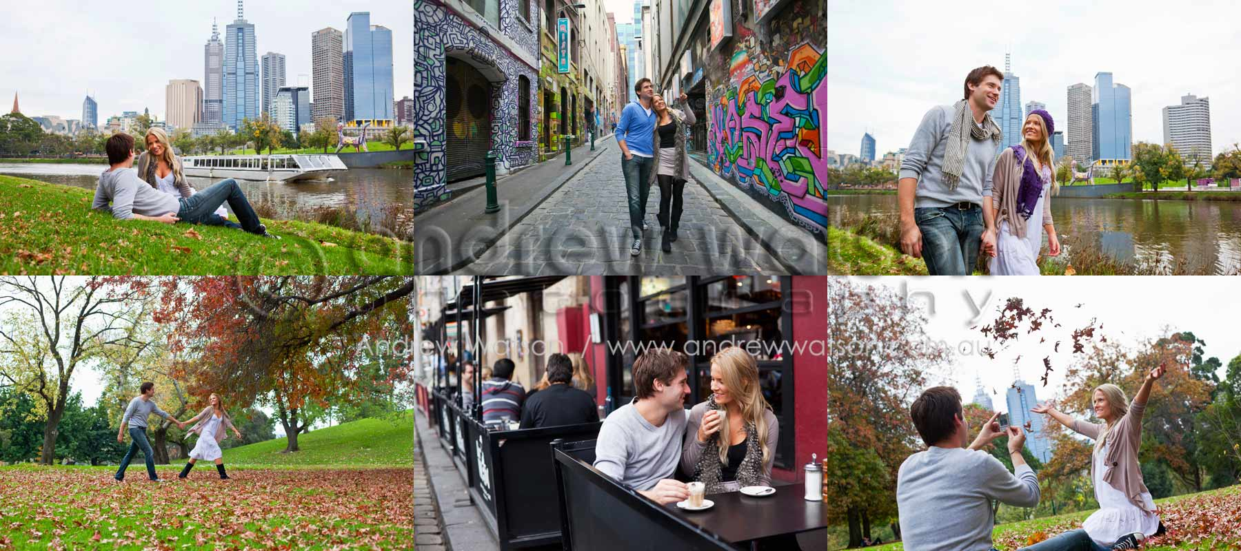 Tourism & Lifestyle Photography - Images of couple enjoying autumn in the city, Melbourne, Victoria