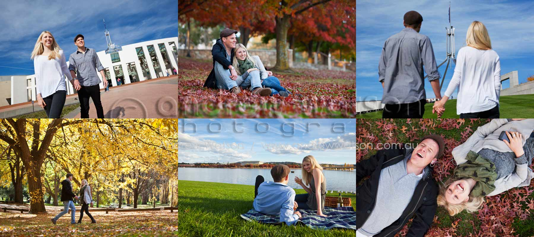 Tourism & Lifestyle Photography - Images of couple exploring the autumn sights of Canberra, ACT