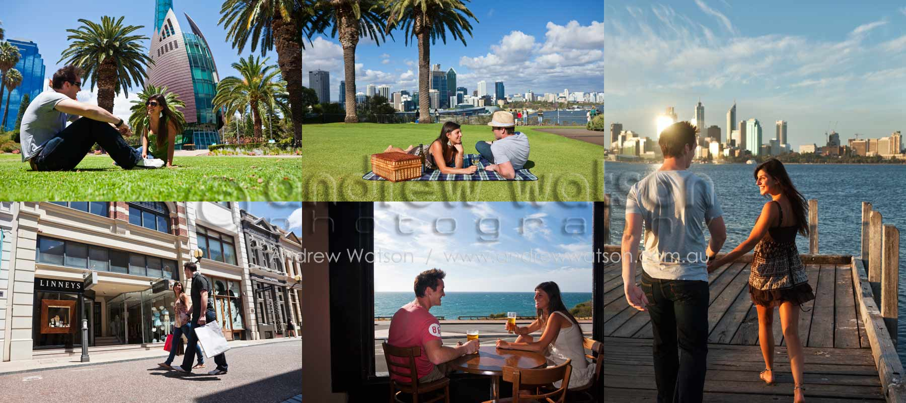 Tourism & Lifestyle Photography - Images of couple exploring the sights of Perth, Western Australia