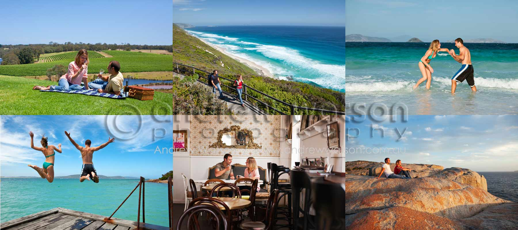 Tourism & Lifestyle Photography - Images of tourist couple enjoying the outdoors lifestyle of Albany, Western Australia
