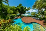 Resort swimming in tropical surrounds at Bedarra Island Resort