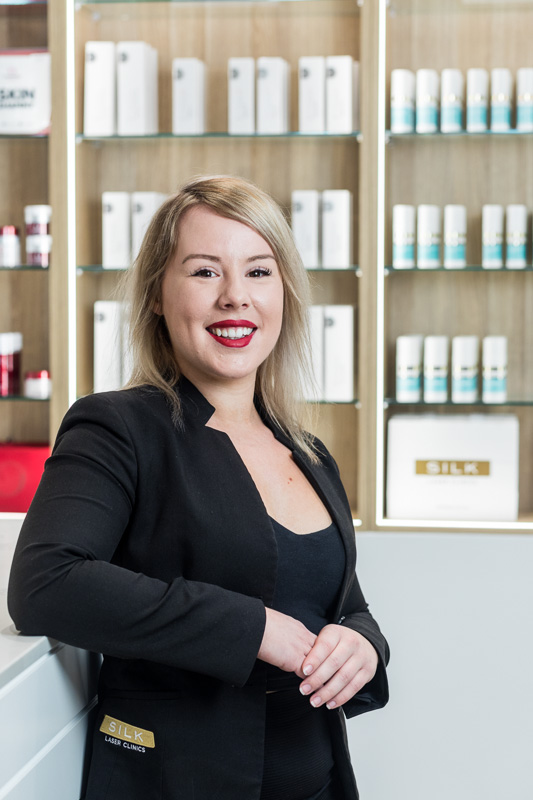 Business portrait of manager at Silk Laser Clinic in Cairns