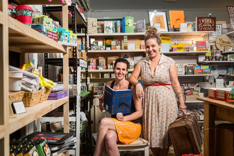 Portrait of business owners at Eggplant and Poppy in Oceana Walk Arcade, Cairns