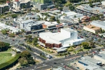 Aerial vew of the Cairns Performing Arts Centre in the city centre