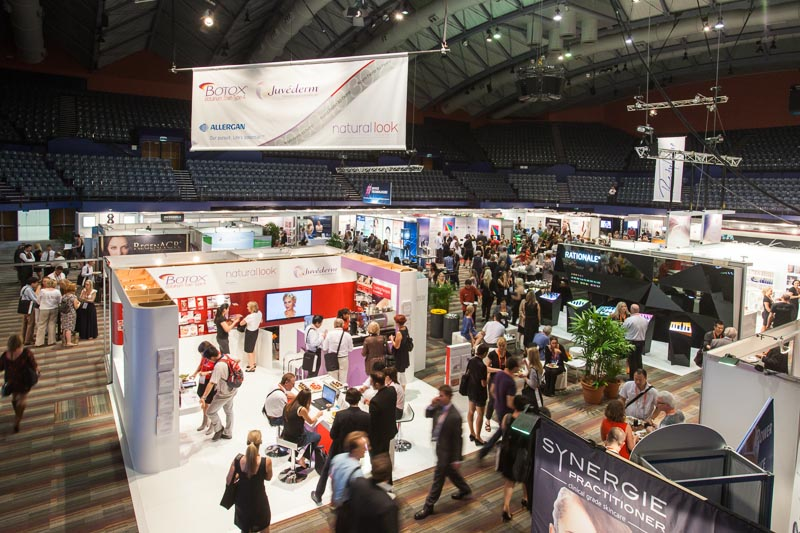 View of delegates attending trade exhibition at the Cosmetex 2012 Conference in Cairns