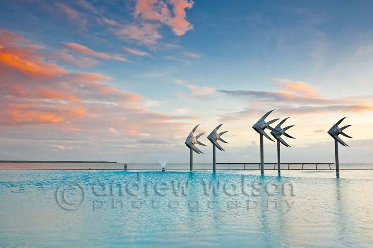 Cairns Photography - Landscape image of Cairns Esplanade Lagoon at twilight