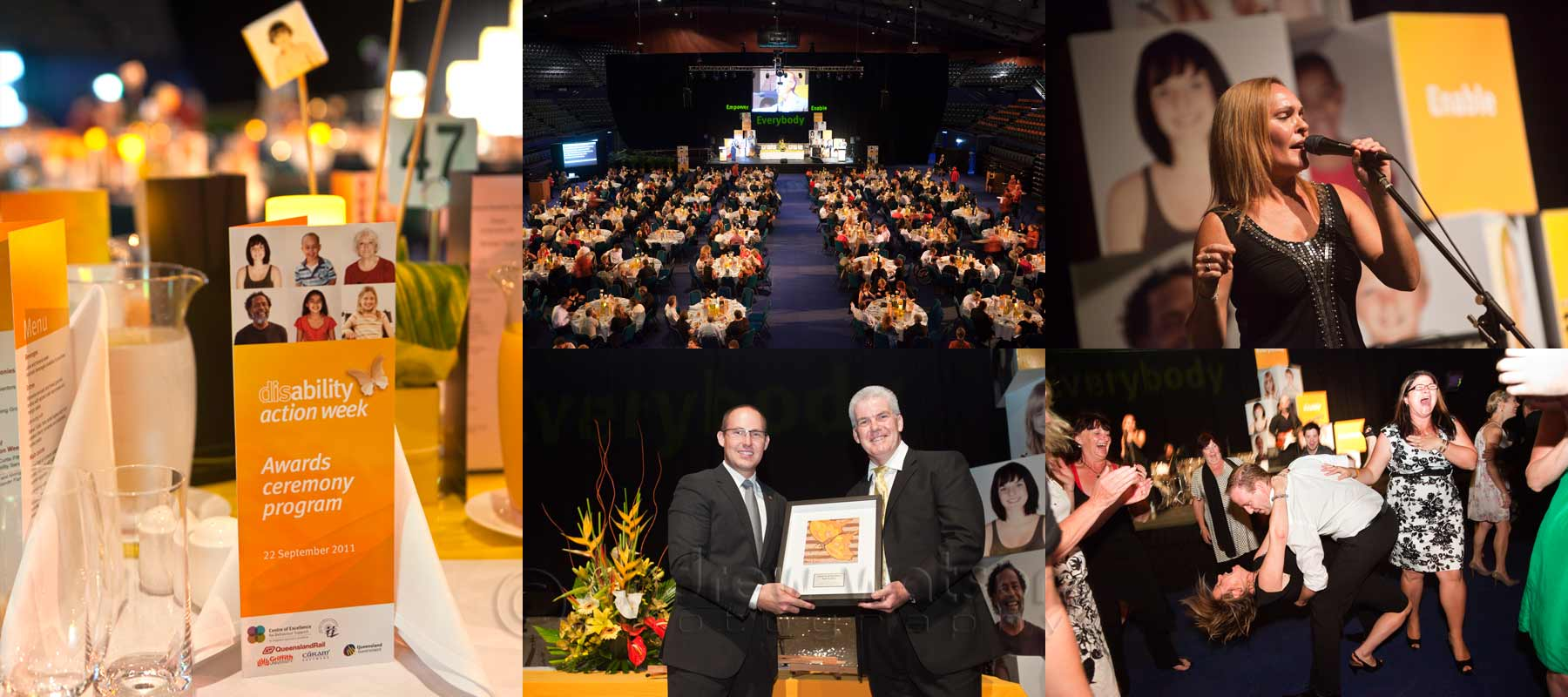 Event Photography - Images captured at Disablity Action Week Awards Night, Cairns Convention Centre