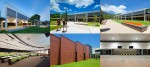 Architecture photography - Crowther Lecture Theatre and Founders Green, James Cook University, Cairns