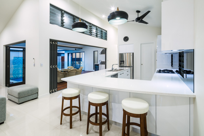 Kitchen interior of residential home, Cairns