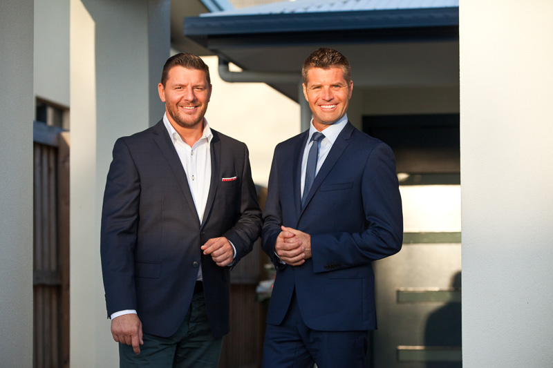 Portrait of My Kitchen Rules judges, Manu Feildel and Pete Evans