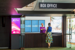 Customer buying ticket at the Box office of the Cairns Performing Arts Centre