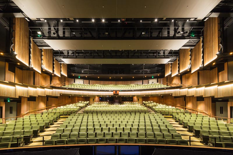 Interior of the main theatre of the Cairns Performing Arts Centre