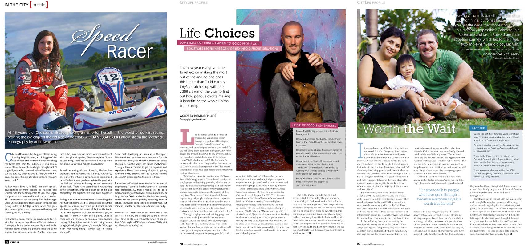 Magazine Photography - Editorial profiles for CityLife Magazine.