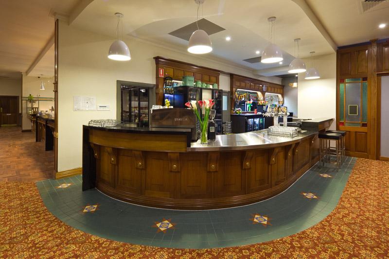 Bar interior at Dunwoodys Tavern in Cairns