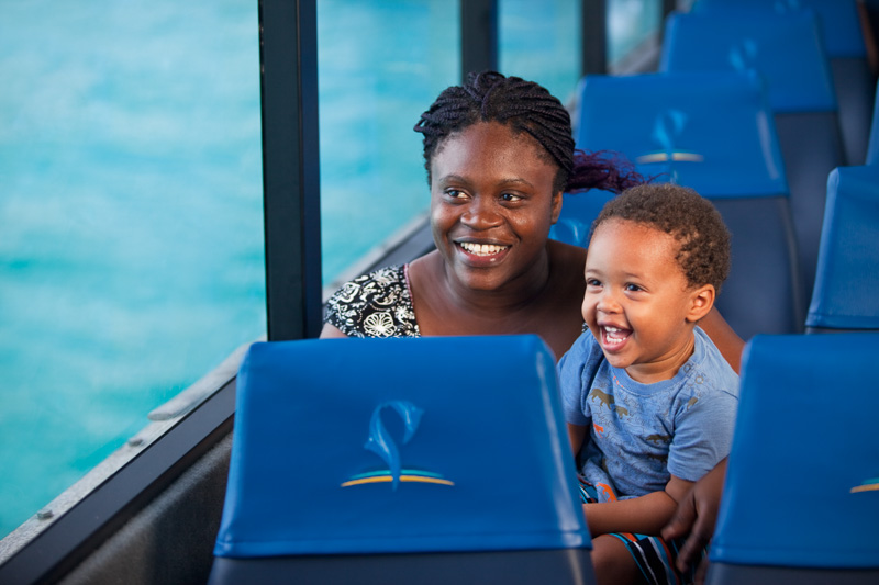 Family aboard the MV Torres Magic going between Thursday Island and Seisia for Peddells Ferry, Torres Strait Islands