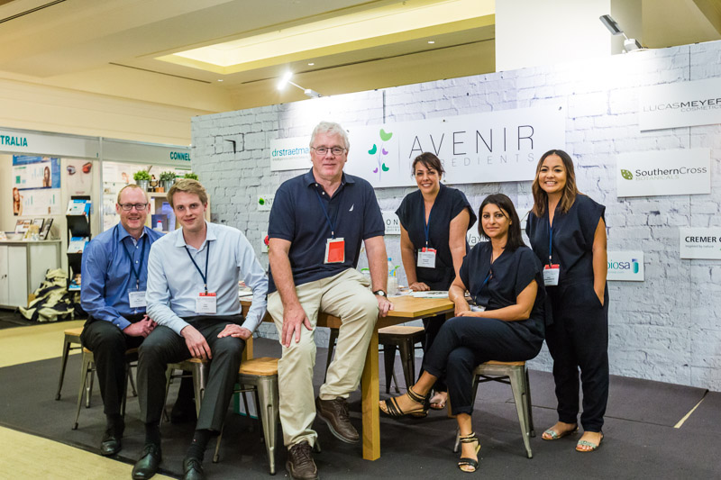Team photo of supplier booth at ASCS2015 Conference in Cairns