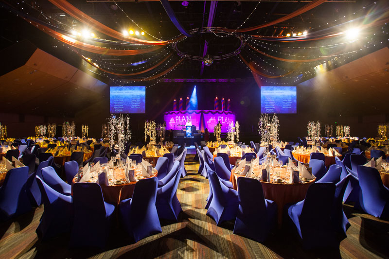 Themed tables for Gala dinner at PLAN Conference Gala Dinner, Cairns