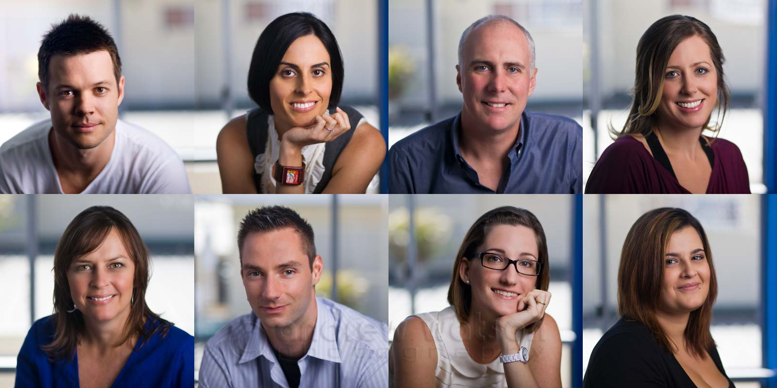 Examples of corporate headshots for a Cairns tourism marketing company