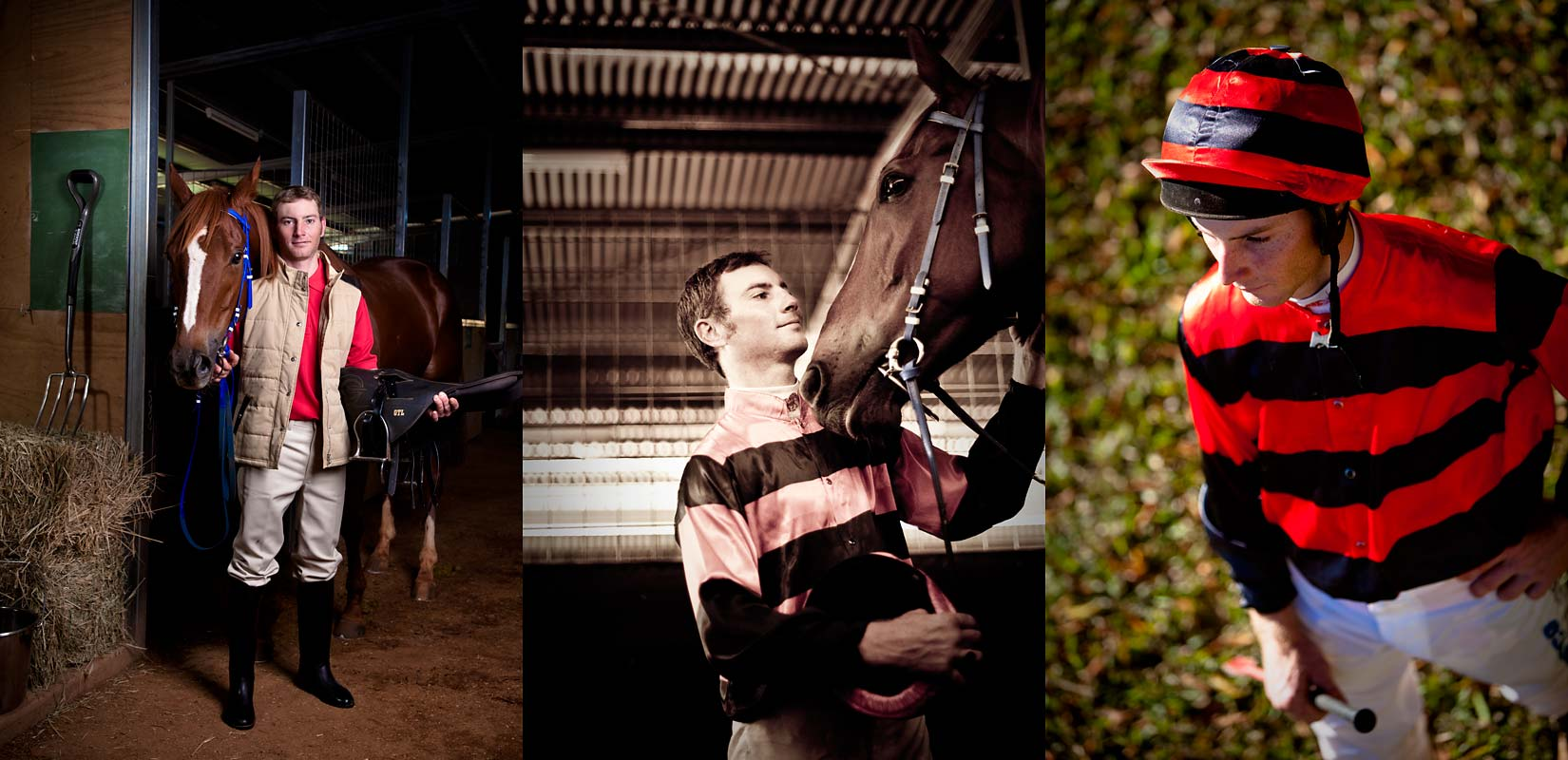 Sports Portrait Photography - David Crossland, jockey