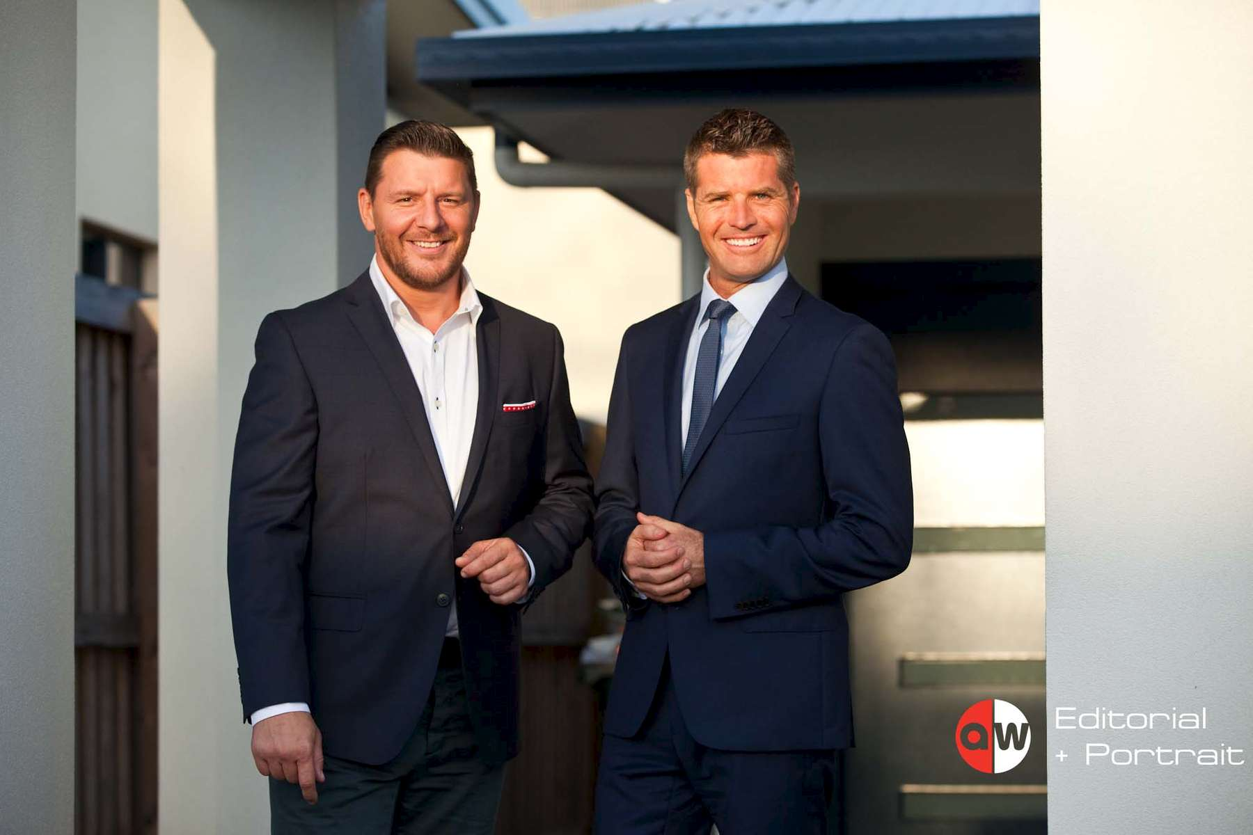 Portrait of {quote}My Kitchen Rules{quote} hosts Manu Feildel and Pete Evans - photographer Cairns