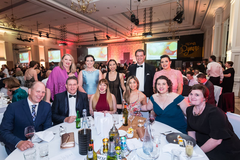 Table photo of delegates at RDAQ Conference 2019 Gala Dinner in Cairns