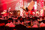 Themed table setting for 2017 Clark Rubber Conference Gala Dinner in Cairns