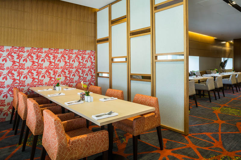 Interior design of the Shangri-La Horizon Club Lounge, Cairns