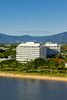 Aerial photo of Mercure Harbouside hotel on Cairns Esplanade waterfront