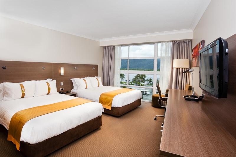 Hotel room interior at the Holiday Inn Cairns