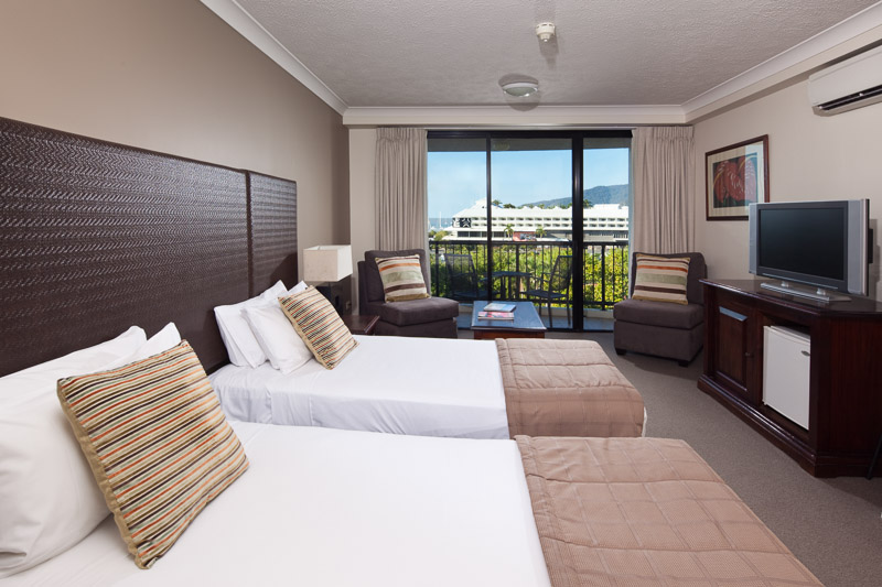 Interior of hotel room at the Mantra Esplanade, Cairns