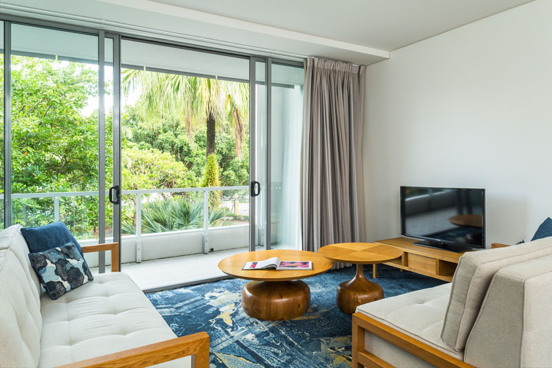 Holiday apartment with garden views at Cairns Harbour Lights
