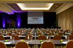 Ballroom set up with seating for a conference at Pullman Reef Hotel Casino, Cairns