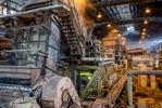 Machinery processing sugar cane inside a sugar mill, Cairns