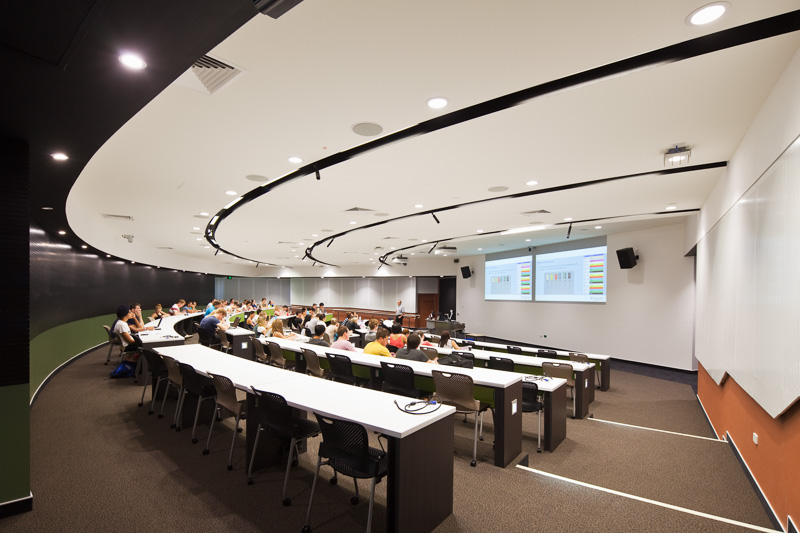 Students attending class in James Cook University Lecture Theatre, Cairns