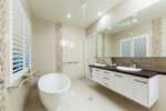 Modern bathroom interior in residentail home, Cairns