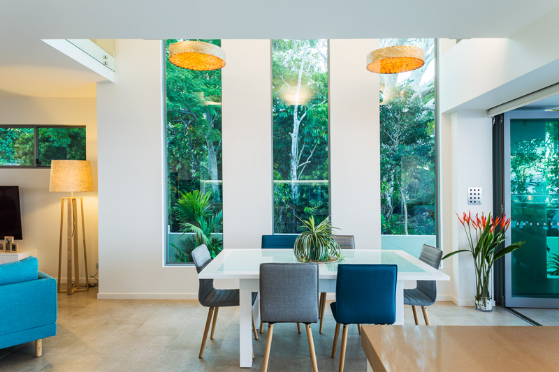 Dining room interior in residentail home, Cairns